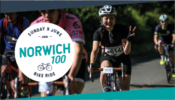 Norwich 100/60/30 mile cycle, The Forum, Bethel St, Millennium Plain, Norwich, Norfolk NR2 1TF | Fully supported cycle event with three circular routes | Cycling